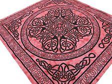 Motifs celtiques Batik Tenture dorée Couvre-lit Tissu Nappe Jeté de lit Coton H
