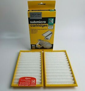 Genuine Dyson DC02 Submicro Vacuum Cleaner Hoover Washable Filters H Yellow 2pk