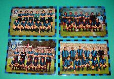 LOTTO SET 4 CARTOLINE ORIGINALI SQUADRA INTER 68/69-73/74-74/75-78/79 15X21