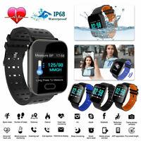 Bluetooth Smart Watch Blood Pressure Heart Rate Monitor Fitness Sports Wristband