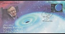 """India - """"SPACE ~ BLACK HOLES ~ COSMOLOGY ~ STEPHEN HAWKING"""" Special Cover 2018"""
