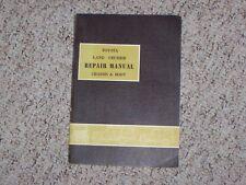 1971 Toyota Land Cruiser FJ40 FJ43 FJ45 Chassis Body Shop Service Repair Manual