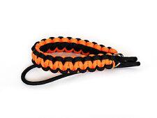 Black/Orange Paracord Wrist Strap for DSLR Compact Cameras Fuji Canon Nikon Sony