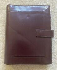 Day Timer Brown Planner Organizer Portfolio 7 Ring Binder Withinserts Vintage