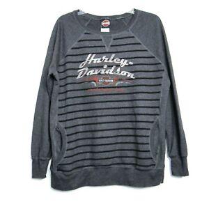 Harley Davidson Sweatshirt Womens Large With Pockets