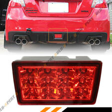 FOR 2011-17 SUBARU WRX STi REAR LOWER BUMPER LED FOG LIGHT BRAKE LAMP RED LENS