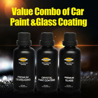 Premium Liquid Nanotech Car Window Polish Glass Coating Glossy Paint Wax Kits