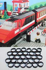 LEGO-7745-Lego, Eisenbahn, 30 Stück Haftreifen, extra dünn, schwarz, 7745