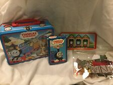 Lot Thomas The Train Tin Lunch Box With Puzzle, card game, and Felt play pieces