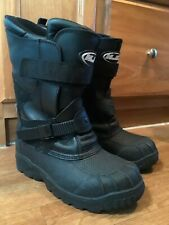 Men's HJC Black Snowmobile Insulated Winter Snow Boots Size 8