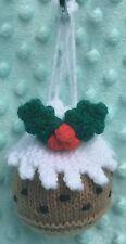 KNITTING PATTERN - Christmas Pudding Drawstring Gift Bag 9cms fits Choc orange