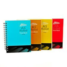 A5 Colours Notepad Spiral Pad - Book Lined 320 Page Paper Notebook Tabbed