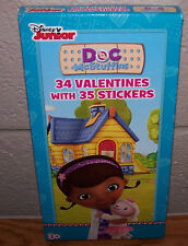 Valentines Day Cards (Box of 34) Disney Junior DOC McStuffins with Stickers