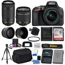 Nikon D5600 Digital SLR Camera +18-55mm VR +70-300mm VR +32GB +More Value Bundle