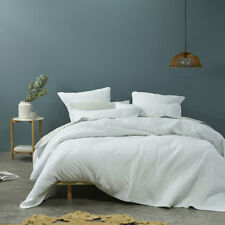 Bianca CADEN White Coverlet Set Bedspread Single / Double Bed Size