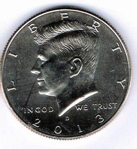 2013-D Brilliant Uncirculated Copper-Nickel Clad Copper Strike Half Dollar Coin!