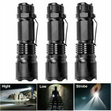 3Pcs 7W 1200LM Mini Zoom In/Out Q5 LED 14500/AA Flashlight Torch Camping Lights