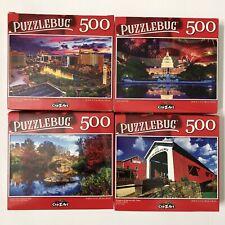 New- Lot Of 4-500 Pcs. Jigsaw Puzzles- Puzzlebug-Cra-Z-Art