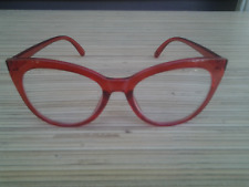 Betsey Johnson Reading Glasses Clear RED+2.00 Large Cat Eye Readers Trendy