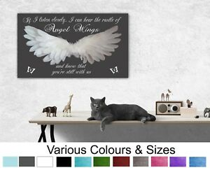 Angel Wings Picture Wall Hanging IF I Listen Closely Quote Canvas Prints 047