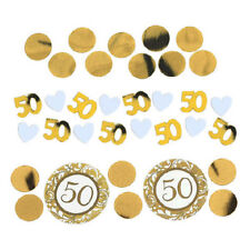 50th ANNIVERSARY GOLD CONFETTI VALUE PACK ~ Wedding Party Supplies Decorations