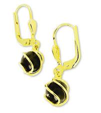 VASCAYA Damen Ohrhänger Ohrring Gold 333 Onyx Stein schwarz Geschenk Geburtstag