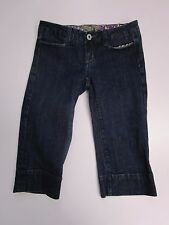 Miss Me Capris Jeans Cropped Stretch Dark Wash Low Rise Women's Size 26 Nice