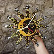 Day And Night, Sun And Moon Mythology Vinyl Wall Clock, Mystery Vintage Decor
