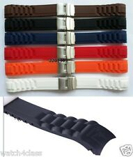 Curved End 22mm or 20mm SPORT DIVER Watch rubber Band Silicone Strap bracelet