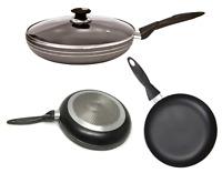 Non Stick Induction Frypan Frying Pan Skillet Cooking Pan Glass Lid Aluminium