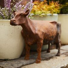 Cast Iron Standing Cow Statue/Ornament/Feature/Animal