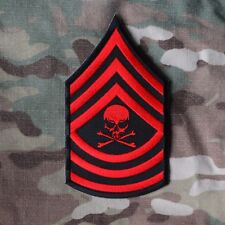 ZOMBIE HUNTER TACTICAL: MASTER SERGEANT DEATH PIRATE RANK MSG NCO PUNK PATCH