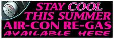2FT X 6FT AIR CON RE-GAS PVC BANNER - GARAGE & WORKSHOP BLACK & PINK