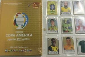 Panini Copa America 2021 - Golden Hardcover Album (RARE) + Loose Set + Package