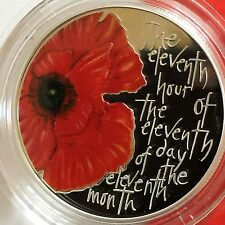 Escaso 2013 Rm Plata prueba Alderney Remembrance Day £ 5 Cinco libra Poppy Moneda
