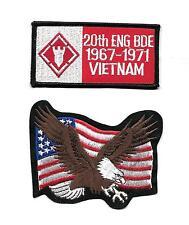 US AMY 1967-1971 VIETNAM WAR Engineering 20th Brigade NOVELTY PATCH SET 2 Pcs