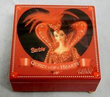 Barbie Wood Jewelry Music Box Queen of Hearts 1995 by Enesco