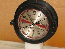 """CHELSEA VINTAGE U.S.NAVY RADIO ROOM CLOCK~6"""" DIAL~1947~WW-2~RESTORED"""