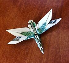 Origami Money dragonfly real $1 bill Graduation holiday Gift Decor