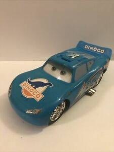 Disney Cars Blue Dinoco Lightning McQueen Talks Engine Sounds Lights Moving Eyes