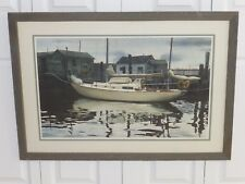 MILDRED SANDS KRATZ AMERICAN WATERCOLOR SOCIETY (AWS) 1981 LARGE SIGNED ARTWORK