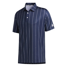 adidas Golf Ultimate365 Polo Shirt (Collegiate Navy / Grey / White - Large)
