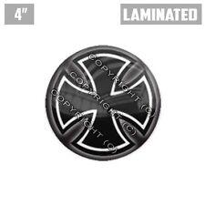 """1 Custom Thick Laminated Glossy 4"""" 3M Premium Decal Sticker - IRON MALTESE CROSS"""