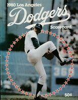 1980 Pittsburgh Pirates at Los Angeles Dodgers Baseball Program Dodger Stadium