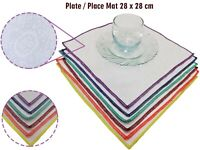 12 x Anti Non Slip Place Mat Mats For Dinner Plate Jacquard Lap Tray High Chair