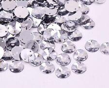 50 x CHIARO CUCIRE su acrilico cristallo gemme di diamante rotondo Strass 10mm