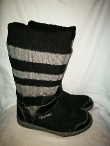 Skechers black ankle boots size 4