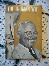 The Truman Wit (Alex J. Goldman, 1966 1st Edition HCDJ)