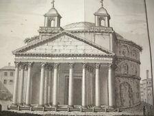 Tempel antike und moderne Denkmäler griechische & Gothic 7 planches selten