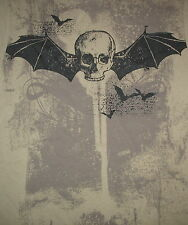 New - Bat Wings Skull Face Print - 100% Cotton T Shirt - Boy'S Xl 16/18